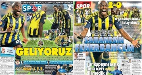 Spor gazeteleri manşetleri fenerbahçe